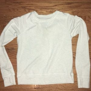 Lululemon Voyage Crew Neck Pullover in white